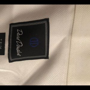 David Donahue 17 34/35 white Men's Dress Shirt